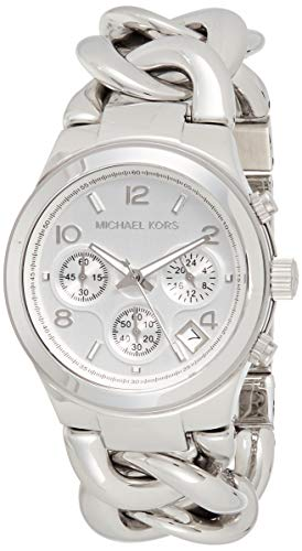 Michael Kors MK3149 Women's Runway Chronograph Twist Chain Steel Bracelet Watch