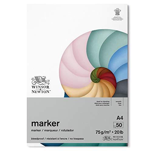 Winsor & Newton Carta Bleedproof per Marker 75 g - A4-50 Fogli