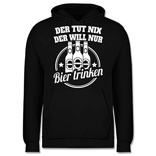 Sprüche - Der TUT nix der Will nur Bier Trinken - XXL - Schwarz - Männerabend - JH001 - Herren Hoodie und Kapuzenpullover für Männer