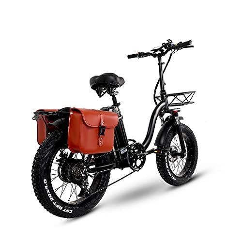 WBYY 750W Bicicleta eléctrica Plegable, Bicicleta de montaña portátil de 20 Pulgadas, 48V batería de Gran Capacidad, Freno de Disco Delantero y Trasero,48V 24AH