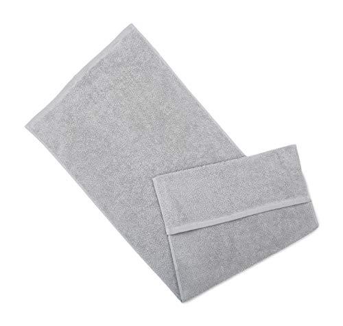 søstre & brødre Asciugamano sportivo da palestra, colore grigio chiaro, 40 x 100 cm, 100% spugna di cotone, conforme allo standard Öko-Tex – Made in EU | Extra spessore 450 g/m² con pratico cappuccio