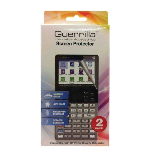 Guerrilla Military Grade Screen Protector for HP Prime Graphing Calculators, 2-Pack Photo #4