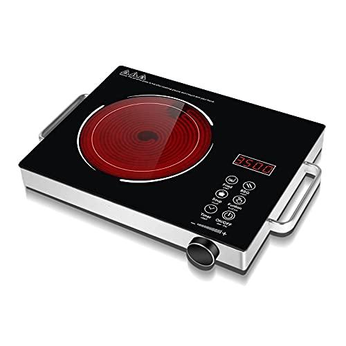 Quemador De Encimera De Inducción Eléctrico De 2200 W Con Temporizador Táctil De Sensor LCD De 2 Manijas Quemador De Inducción De 6 Potencia Para Cocinar Placa Inducción Inducción Placa Vitrocerámica