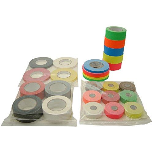 JVCC Gaff-Color-Pack Gaffers Tape Multi-Pack: 1/2 in. wide 5 Rolls/Pack (Fluorescent Blue, Fl. Green, Fl. Orange, Fl. Pink, Fl. Yellow)