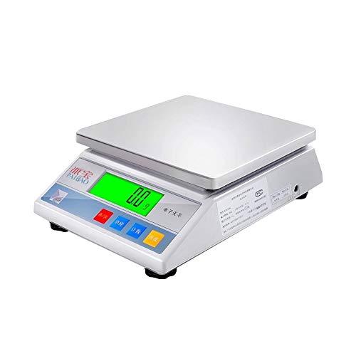 YZSHOUSE Escala electrónica de Alta precisión de 0.01g Escala de Cocina for Hornear doméstica a Prueba de Agua for Plataforma de pesaje de supermercado Escala (Size : 10kg/1g)