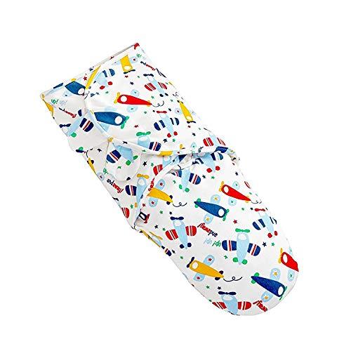 TALINU gigoteuse d'emmaillotage bleue - nid d´ange avec système pratique de scratch en 100% coton - couverture d emmaillotage sac de couchage pour bébé, sac pour gigoter