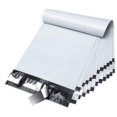 Fuxury 6x9 200pc white Poly Mailers Shipping Envelops Self Sealing Envelopes Boutique Custom Bags Enhanced Durability Multipurpose Envelopes Keep Items Safe Protected