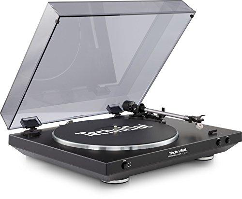 TechniSat TECHNIPLAYER LP 200 - Vollautomatik-Plattenspieler (mit USB-Ausgang und Digitalisierungsfunktion, Drehzahl: 33/45 U/min, Riemenantrieb mit Aluminium-Plattenteller), schwarz
