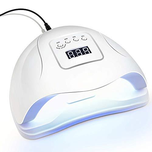 Secadores de uñas Lámpara de uñas Led Lámpara Uv Lámpara Más Secador de Uñas de Luz Solar para Todos los Tipos de Manicura de Uñas Gel Temporizador Sensor Nail Art Tools/54w