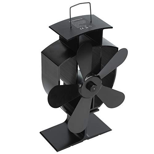 Ventilador para estufa de leña, ventilador silencioso para chimenea de 5 aspas, aire caliente circulante, utilizado en interiores