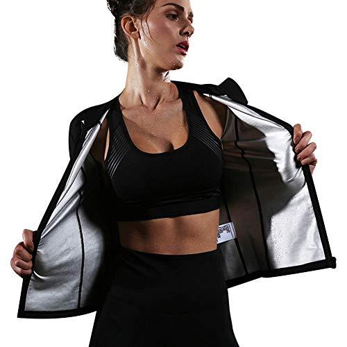 HuntDream Sauna-Klage-Gewichts-Verlust, der Fitness-Gymnastik-Übungs-Trainings-Sport-Jacke für Frauen abnimmt