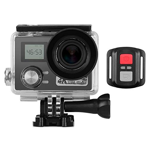Andoer 4K Sports Action Camera with 0.96 inches Dual LCD Screen 30m Waterproof 30FPS 170° Ultra-Wide Angle Lens WiFi Sharing with Remote Shutter Waterproof Case Mounting Accessories