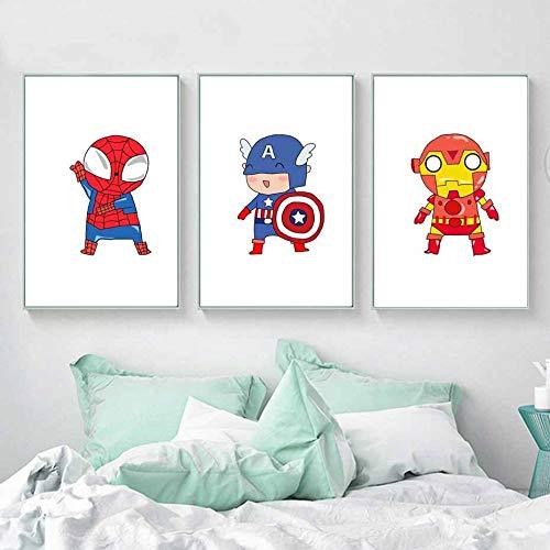 Klassischer amerikanischer Film Niedlich Schön Lustig Superheld Superpower Poster Wandkunst Kinder Junge Zimmer Wohnkultur Leinwand Malerei 40 * 50cm M.