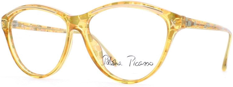 Paloma Picasso 3795 40 Yellow Authentic Women Vintage Eyeglasses Frame