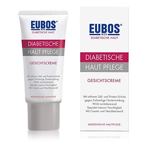 Eubos | DIABETISCHE HAUT PFLEGE Gesichtscreme | 50ml | für trockene und empfindliche Haut | ohne Mineralöl | Schutz vor Elastizitätsverlust | Zur täglichen Gesichtspflege