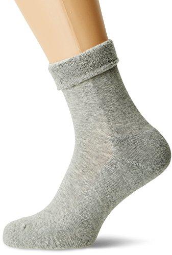 Nur Die Damen Pflege & Komfort Relax Schlag Socken, Grau (Hellgraumel. 354), 42 (39-42)