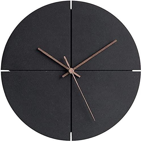 chazuohuaile Co.,ltd Reloj De Pared Reloj Reloj De Pared Redondo De 12 PulgadasSilenciador No Coutil Reloj De Pared Decorativo De Cuarzo Reloj De Pared MDF Pulsera De Pila