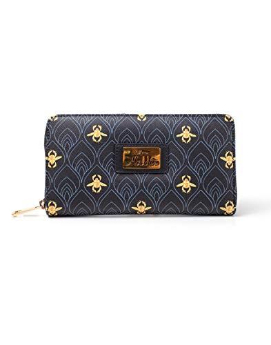 Disney Aladdin AOP Ladies Zip Around Wallet Black