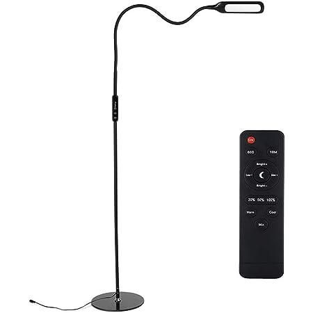 LED Lampadaire avec Télécommande, Zanflare 5 Température de Couleur Lumièr Luminosité Réglable, Protection Des Yeux Lampe de Lecture, 9W Lampadaire sur pied pour Salon, Chambre, Bureau lampe
