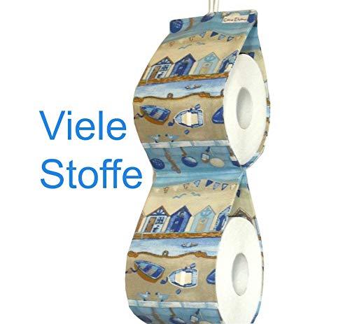 Ersatzrollenhalter Zeitschriftenhalter Toilettenpapierhalter Stoffe und Fächeranzahl zur Auswahl
