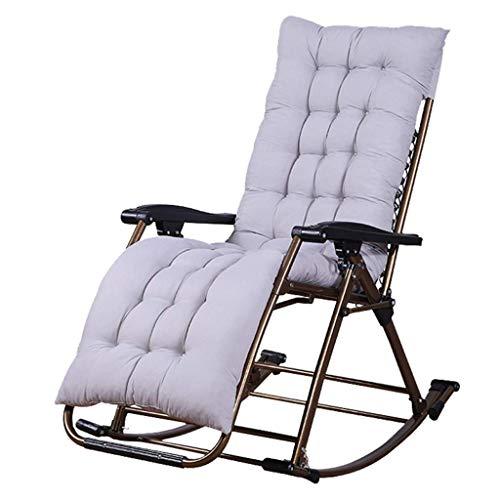 AI LI WEI JUANSHUAI Silla de Ocio para el hogar Mecedoras Plegables for Adultos Tumbona Césped Salón sillas de jardín Silla del Ocio Tumbona reclinable sillas al Aire Libre MAX.200kg
