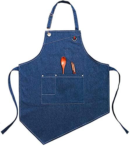 FYYYU Grembiule Regolabile - Grembiule da Cucina per Cucinare - Grembiule da Uomo E da Donna per Chef Professionista, Server O Barista, con Tasche,C