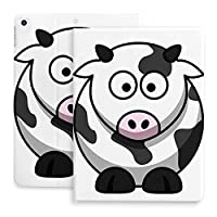 iPad 8 ケース 2020 iPad 8/7 ケース 10.2インチ 2020/2019モデル 第8/7世代用 ケース オートスリープ/ウェイク 磁気吸着 耐摩擦 耐衝撃 傷つけ防止 完全保護 手帳型 PUレザー 新型 可愛い乳牛 大目
