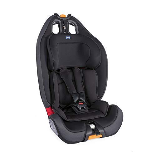 Chicco Gro-Up 123 Siège Auto pour Bébé 9-36 kg, Groupe 1/2/3 pour Enfants de 9 mois à 12 ans, Facile à Installer, avec Appui-Tête Réglable, Réducteur pour Bébé et Coussin Souple - Jet Black