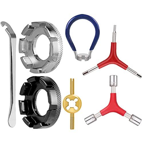 Fahrrad Speichenschlüssel Set,Fahrrad Rad Speichen Schlüssel mit Reifenheber Speichenschlüssel,für Bike Reifenheber Set,Fahrrad Reparieren Werkzeuge Speichen,Speichenspanner Fahrrad Set