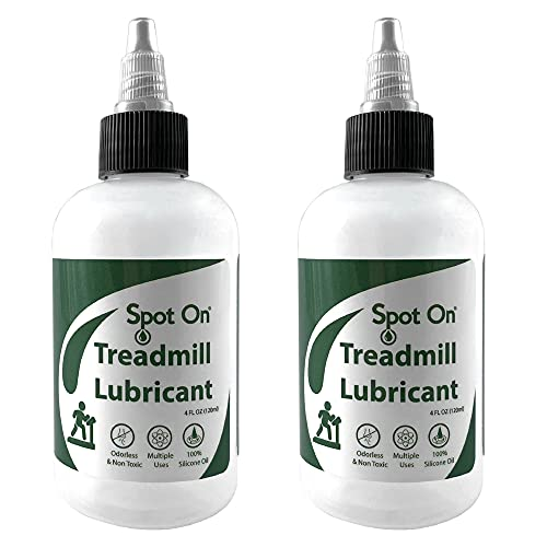 2 Pack of Spot On 100% Silicone Treadmill Belt Lubricant - Made in The USA - Easy Squeeze Controlled Flow Treadmill Lubricant