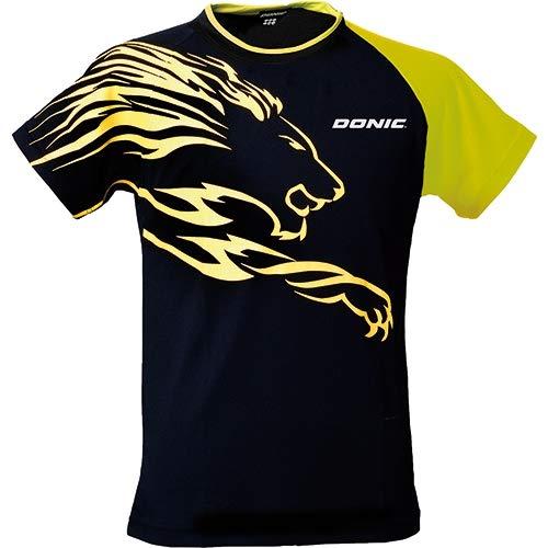 Donic camiseta camisetas León, Opciones XS, negro/amarillo