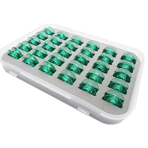 CKPSMS Marque –# 4123078-45 Bobines vertes claires (Sans trou de filetage) compatible avec Viking Husqvarna Group 5 6 7 & White 5811, 5823, 5839, 7700, 9800 Home COUTURE (30 pièces + boîte)