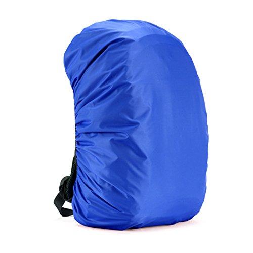 Fundas Cubiertas De Mochila Protector De Lluvia Impermeable para Mochila De Camping Mochila De Viaje Al Aire Libre 30L-45L (Azul)