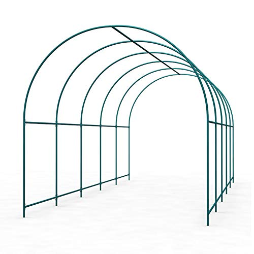 LILL Garden Arch Climbing Trellis Arches Family Kindergarten,Steel With Plastic Coated Support Hoops,Plant Support Garden Stakes For Plant Frost Protection Season Extension