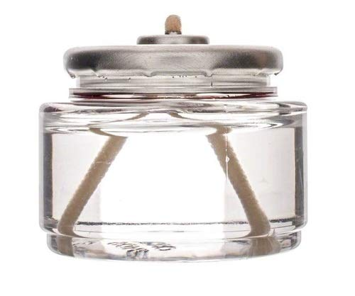 D'light Online HD8-90 Liquid Wax Disposable Clear 8 Hour Liquid Tealight Fuel Cell Oil Candle Cartridge Disposable Liquid Paraffin - Set of 90