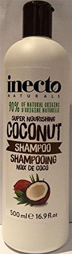 Zwölf Flaschen Inecto Pure Coconut Feuchtigkeit Ziehen Shampoo 500ml