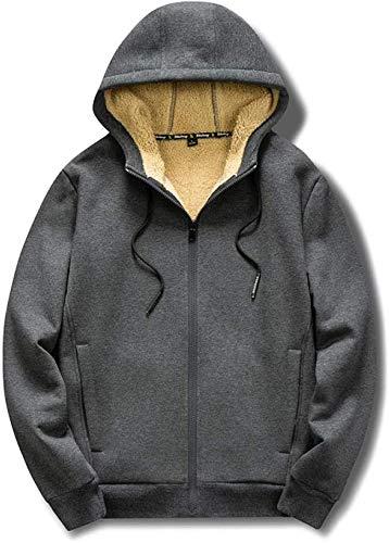 HAOKE Sudaderas otoño/invierno talla grande suéter bordado grúa para hombre, más suéter de terciopelo con capucha para mujer, chaqueta negra _2XL (color: gris, talla: mediana)