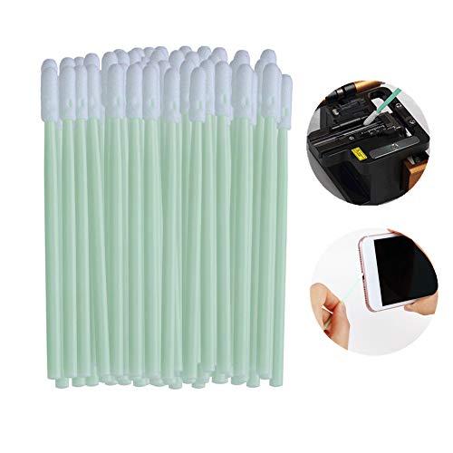 Reinigungstupfer, Schwammstäbchen 200pcs Anti-Statik-Rundkopf mit langem Griff Schaumstoffstäbchen für Tintenstrahldrucker, Druckkopf, Kamera, optische Linse, Fahrzeugdetail, optische Ausrüstung