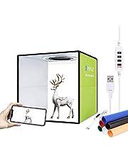 PULUZ Lichtbak 12'/ 30CM Groen 10 Versnellingen Dimbaar 112 LED Verlichting Draagbare Fotostudio Licht Tent Geschikt Voor Bedrijven die Online Artikelen Verkopen met 6 Achtergronden en USB Kabel