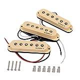 Alnicov Pastillas Vintage Staggered SSS aptas para Fender Stratocaster Strat/Squier Guitar Cream