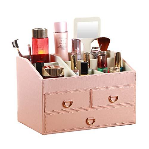 Boîte de Rangement cosmétique (Color : Pink-A)