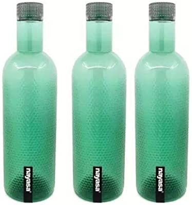 Nayasa Turtle 1000 ml Bottle (Pack of 3, Green, Plastic)