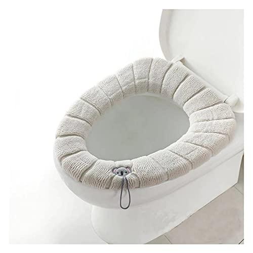 FHUA Cubierta De Asiento De Inodoro Se Puede Lavar Y Reutilizar Cojín De Asiento De Inodoro Mantener Caliente Asiento del Baño Tamaño Universal Adecuado para Tapa De Inodoro,3PC