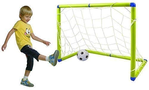 Quickdraw Childrens Junior Football Goal Soccer Set with Ball and Pump