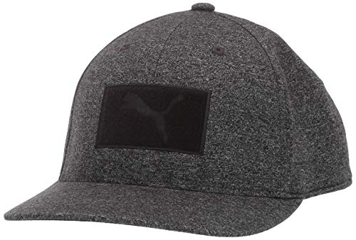 Puma Golf 2019 Men's Utility Patch Snapback Hat (One Size), Puma Black