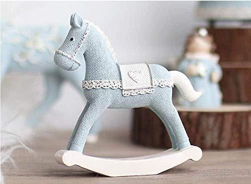 JLXQL Statuette Nordic Modern Decorations Cute Cartoon Resin Horse Statue Simple Pony Sculpture Animal Figure Childhood Gifts
