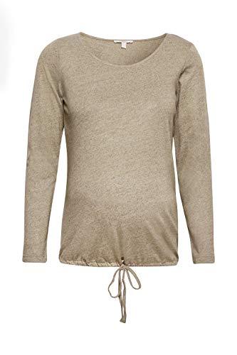 Esprit Maternity T-Shirt LS Camiseta de Manga Larga premamá, Verde (Real Olive 307), S para...