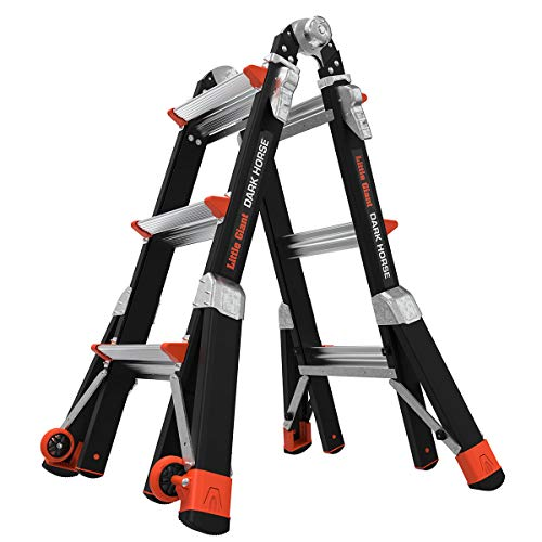 Little Giant Ladders, Dark Horse, M13, 7-11 foot, Multi-Position Ladder, Fiberglass, Type 1AA, 375 lbs weight rating, (15143-001) Illinois