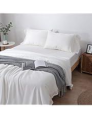 Zenn Natural Laken, extra zacht, van zijde, 100% Tencel Lyocell, milieuvriendelijk, hypoallergeen, ademend