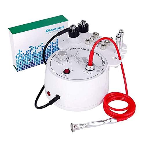 Máquina de microdermoabrasión de diamante 3 en 1, máquina profesional de dermoabrasión de diamante para el cuidado facial del salón de cuidado para uso doméstico personal, con puntas y varita